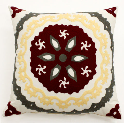 Modern Suzani Pillow - Sabira Collection