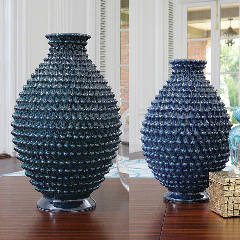 Pinecone Vase Cobalt Large Global Views Luxe Home Philadelphia