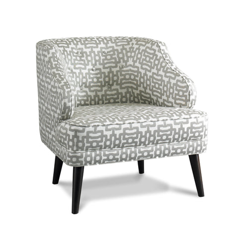 Courtney Chair, Ikat Dotscape Dove - Precedent