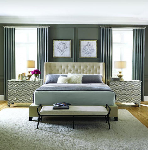 Maxime Queen Wing Bed - Bernhardt Interiors