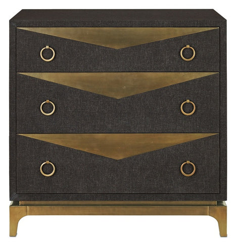 Cadena Three Drawer Chest - Currey & Company