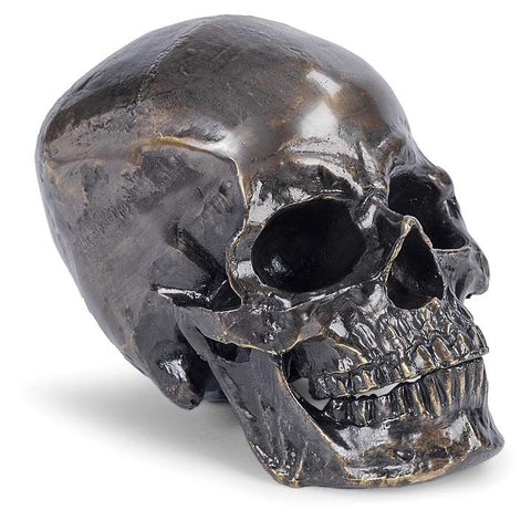 Antique Bronze Metal Skull - Regina Andrew Design