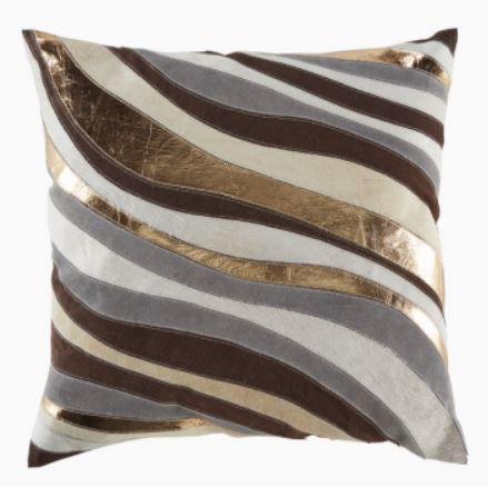 Linen, Suede, Hide, Copper Pillow 22 x 22 - Callisto Home