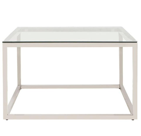 Square Stainless Steel Coffee Table - Howard Elliott
