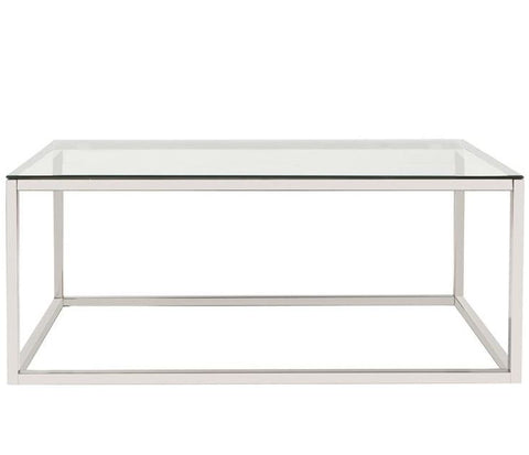 Rectangular Steel Coffee Table - Howard Elliott