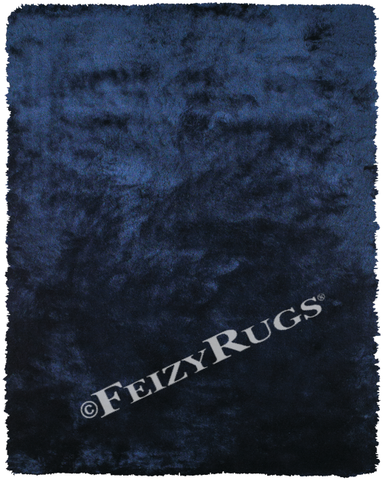 Indochine Area Rug, Dark Blue - Feizy