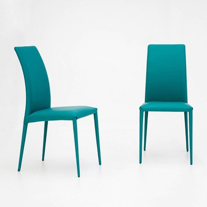 Charm Eco Leather Chair In Turquoise   Tonin Casa