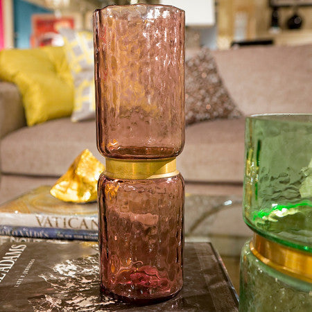 Lava Glass Vases, Purple - Gold Leaf Design Group