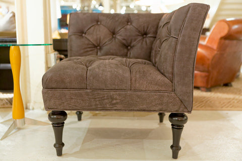 Salon Leather Corner Chair - Bernhardt Interiors