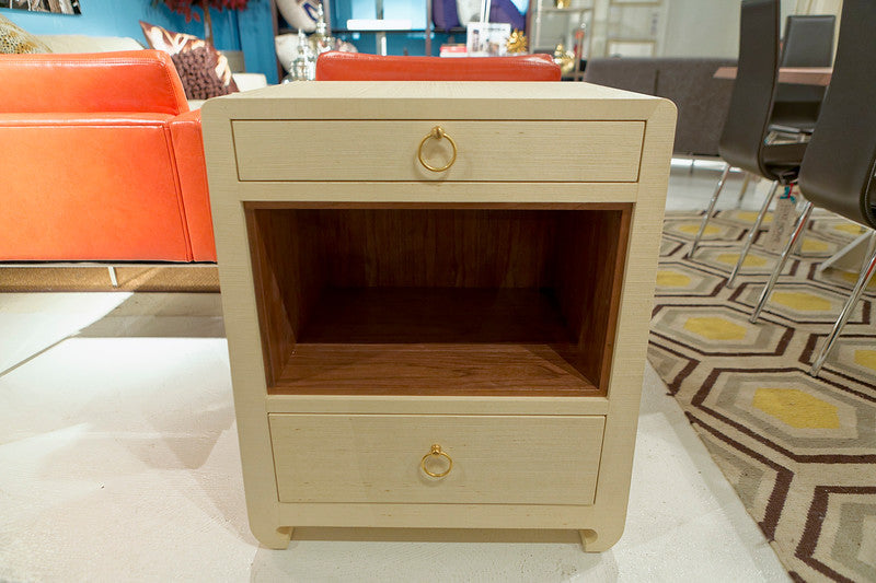 Ming Two Drawer Side Table, Natural   Bungalow 5