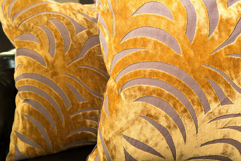 Big Leaf Gold Pillow - Dransfield & Ross
