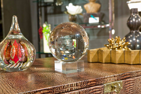 Baxter Decorative Crystal Ball on Stand - Two's Company
