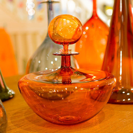 Low Arc Petite Decanter, Apricot - Joe Cariati
