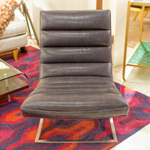 Felix Armless Leather Chair - Precedent
