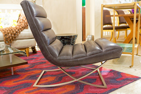 Armless Leather Chairs leather chairs | luxe home philadelphia