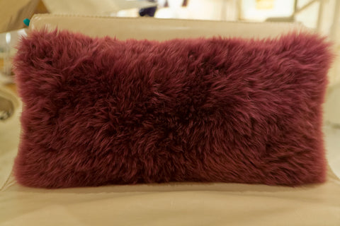 Long Wool Velvet Plum Pillow 11