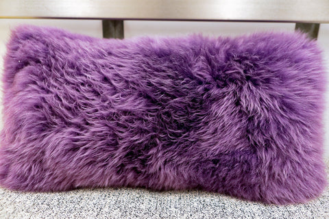 Long Wool Loganberry Pillow 11