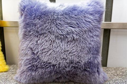 "Long Wool Pillow Iris, 20"" x 20"" - Auskin"