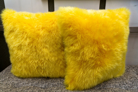 Long Wool Yellow Pillow 20