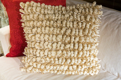 Pom Pom Ivory Pillow - Cloud 9