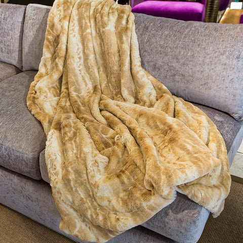 Blonde Mink Couture Faux Fur Throw - Fabulous Furs