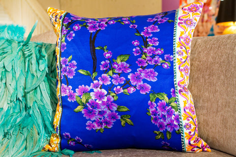 Cherry Silk Pillow Purple - Ann Gish