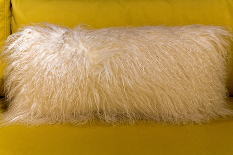 Tibetan Lamb Pillow Ivory 11