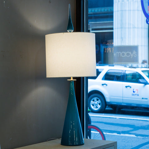 Rodia Table Lamp Azure/Brass - Joe Cariati