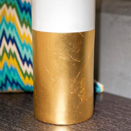 Gilded Cardboard Sculpture Vase - Gold Leaf Design Group