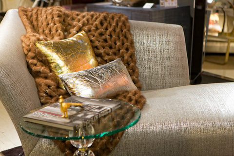 Shade on Gold with Silver - Aviva Stanoff Design Inc.