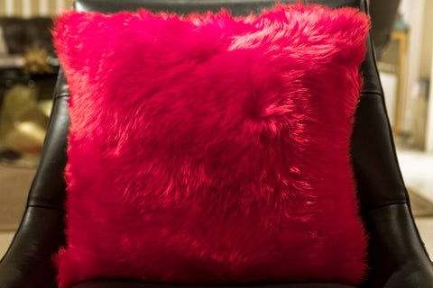 "Long Wool Flame Pillow 20"" x 20"" - Auskin"