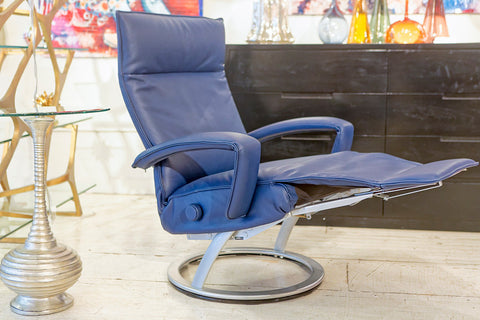 Gaga Recliner, Cobalt Blue - Lafer