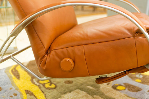Billie Recliner, Saddle - Lafer