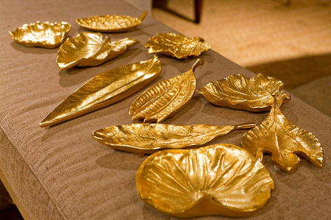 Brass Foliage Dishes - Tozai Home