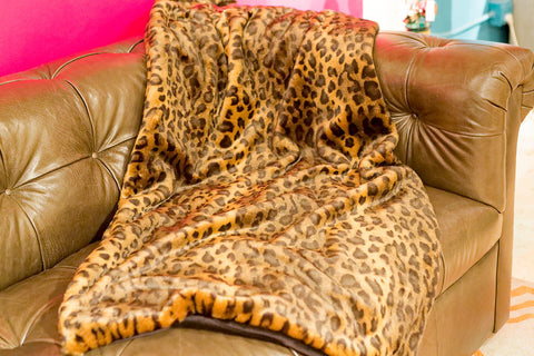 Leopard Signature Faux Fur Throw - Fabulous Furs