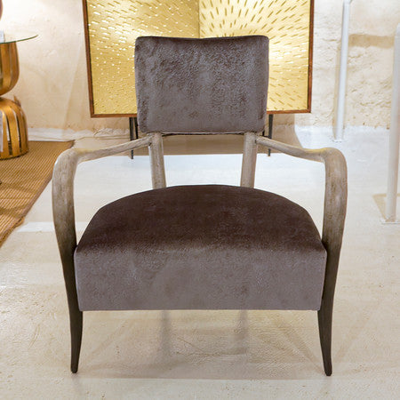 Elka Dark Brown Faux Horn - Bernhardt Interiors