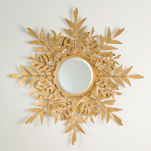 Palm Leaf Mirror Gold - Studio A