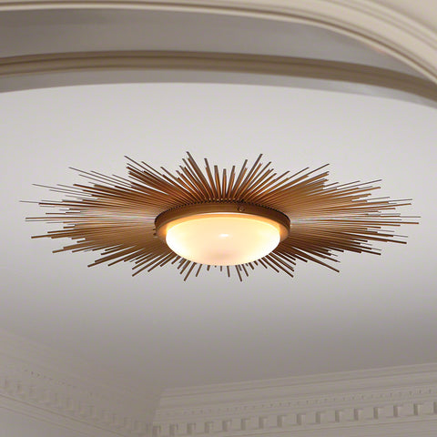 Sunburst Light Fixture - Gold - Global Views