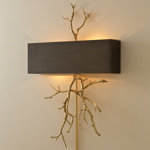 Twig Hardwired Wall Sconce - Brass - Global Views