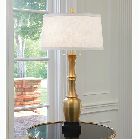 Bambooesque Lamp, Antique Brass - Global Views