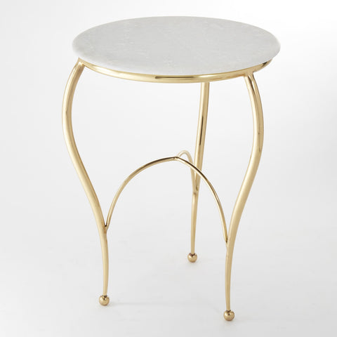 Diminutive Brass Side Table - Global Views