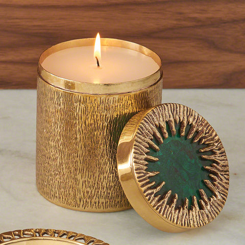Crimped Box Large with Poured Candle - Global Views