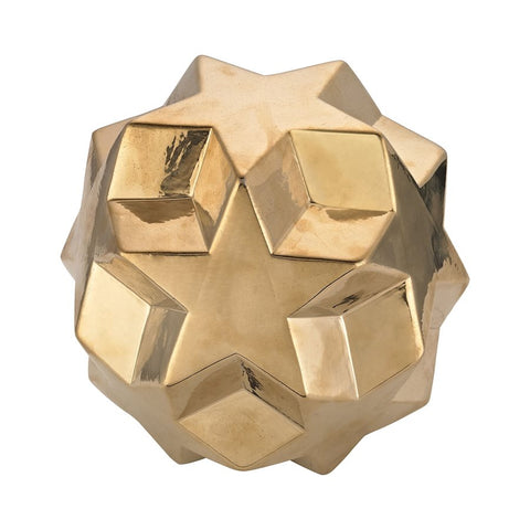 Ceramic Gold Table Top Star Ball - Dimond Home