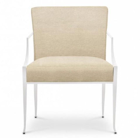 Richard Mishaan Berkley Chair with White Powder Coating - Bolier & Co.