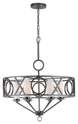 Odette 6 Light English Bronze Chandelier II - Crystorama