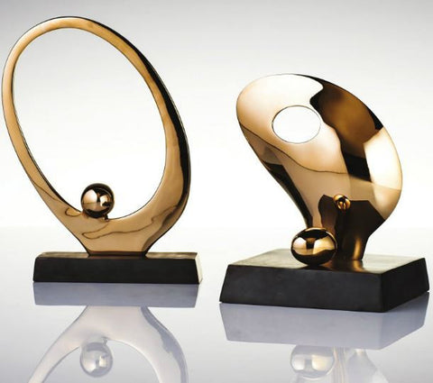 Egg Sculpture Large Gold  - Nima Oberoi-Lunares