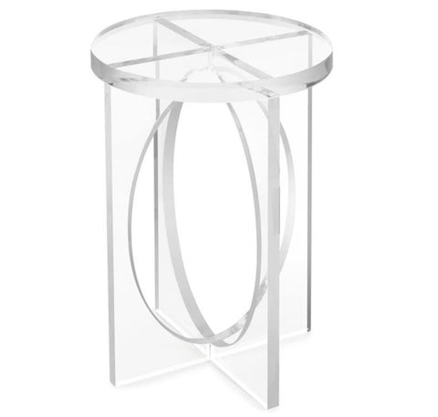 Martini Acrylic Side Table - John Richard