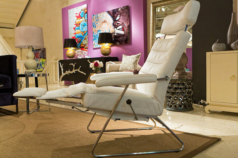 Adele Leather Recliner - Lafer