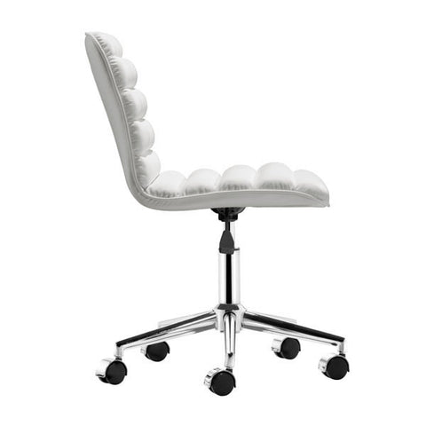 Admire Office White Chair - Zuo Modern