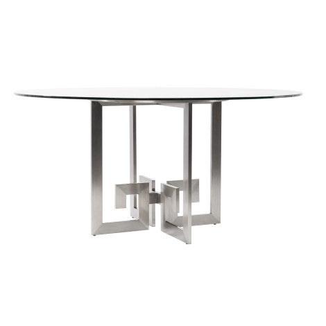Alyssa Greek Key Dining Table - Belle Meade Signature